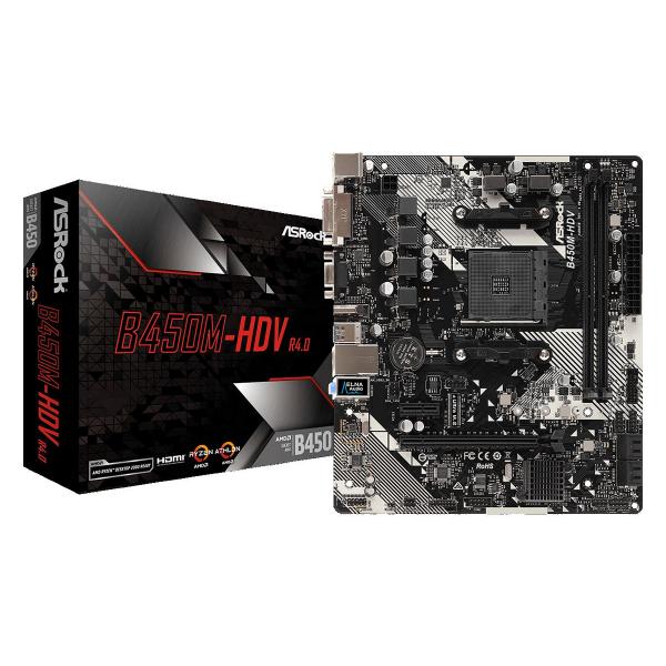 MB ASROCK AMD B450M-HDV R4.0