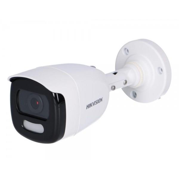 Camera de supraveghere AHD Bullet, 2MP, IR , 2.8mm, Lumina alba 20m, ColorVU, Hikvision DS-2CE10DFT-F28