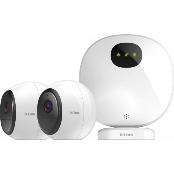 Camera de supraveghere IP Cube, 2MP, IR 7.5m, 1.9mm, Wi-Fi, D-link DCS-2802KT