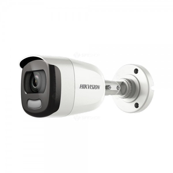 Camera de supraveghere AHD Bullet, 2MP, IR , 2.8mm, Lumina alba 40m, ColorVU, Hikvision DS-2CE12DFT-F28