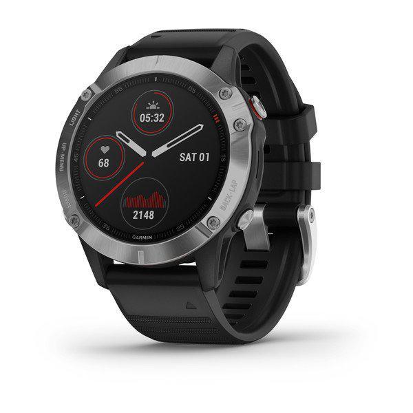 Fenix 6 Silver w/Black Band, GPS, WW