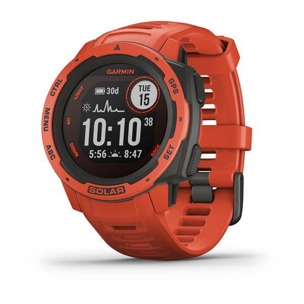 GR Instinct Solar GPS Watch Flame Red WW