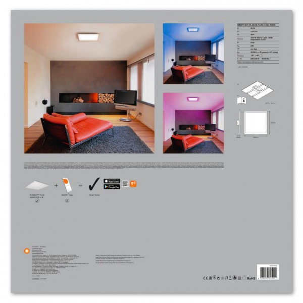 PANOU LED LEDVANCE 4058075525221 45X45CM