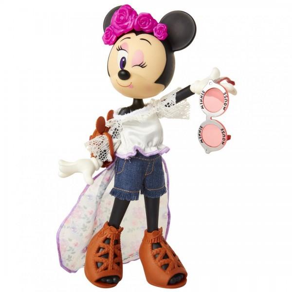 Papusa Minnie Mouse cu bentita cu flori