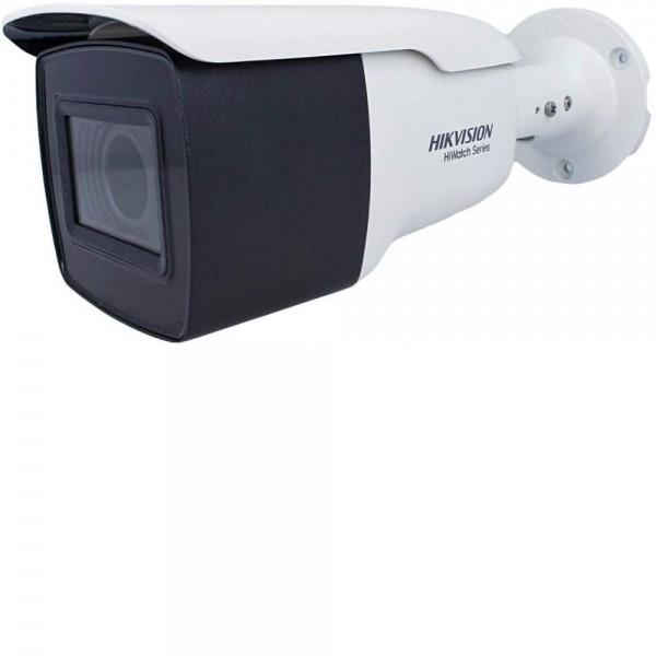 Camera de supraveghere Turbo HD Bullet, 8MP, IR 80m, 2.7-13.5mm, Hiwatch HWT-B381-Z2.7-13.5